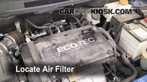 air filter how to 2004 2011 chevrolet aveo 2009 chevrolet aveo air filter how to 2004 2011 chevrolet aveo 2009 chevrolet aveo ls 1 6l 4 cyl