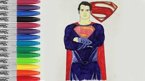 Top 20 superhero coloring pages: Superman Coloring Book Pages Man Of Steel Sailany Coloring Kids Youtube