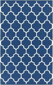 blue trellis rug vogue white geometric modern artistic weavers living room
