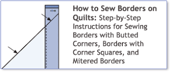 How to Sew Borders on Quilts: Step-by-Step Instructions for Sewing ... & How to Sew Borders on Quilts: Step-by-Step Instructions for Sewing Borders Adamdwight.com