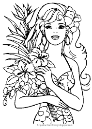 Small Picture I LOVE THESE SUMMERY BARBIE COLORING PAGES ONE IS A HAPPY