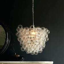 crystal glass drop chandelier black round glass drop
