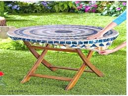 patio table cloth umbrella tablecloth outdoor tablecloths round with zipper hole