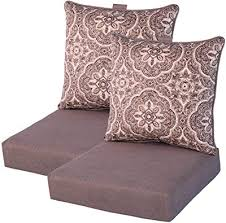 set of 2 deep seating outdoor dining chair cushions 24 x 48 x 5