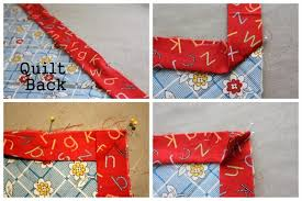 Quilt Along Series: Adding Binding (finished edge) | Make and Takes & Starting towards the center of one side (you don't want you ends to join  near a corner – makes it a lot trickier) pin the raw edges of your pressed  strip to ... Adamdwight.com