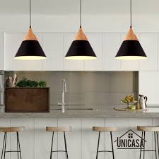 Kitchen cool ceiling lighting Fixtures Modern Wood Pendant Lights Industrial Black Aluminum Mini Led Lighting Kitchen Island Office Hotel Antique Pendant Ceiling Lamp Aliexpress Modern Wood Pendant Lights Industrial Black Aluminum Mini Led