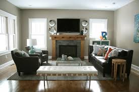 Oak Cabinets Living Room Living Room Stunning Vintage Living Area Feats White Sofa Also
