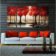interior decorating with maple leaves and red home accents on autumn tree set of 3 framed wall art prints with 25 must try rustic wall decor ideas featuring the most amazing