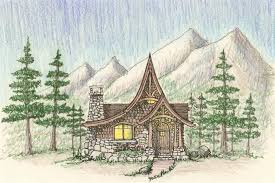 storybook cabin as seaside cottage or mountain chalet