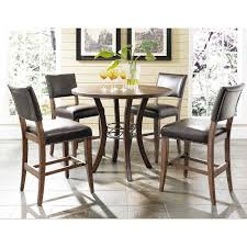 hilale cameron 5 piece counter height round wood dining table set with parson chairs com