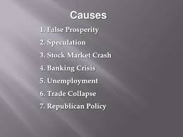 the great depression causes and effects causes<br
