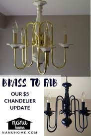 how to refinish brass lamps elegant brass to fab spray painted chandelier navy blue of 31