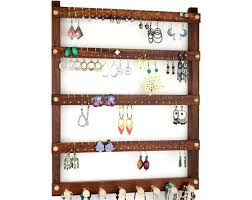 tom s earring holders caribbean rosewood jewelry holder with necklace rack