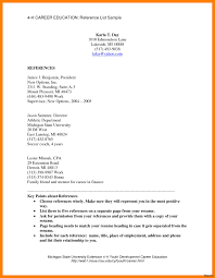 Reference Pages For Resumes Gallery Of One Page Resume Template