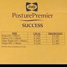 Reserved Brand New Sealy Super Single size Posture Premier Success
