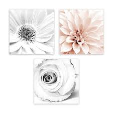 >pink and grey wall art floral art bathroom wall art galeria rodrigo abstract blush pink gray framed floral wall art print decor set 3 piece