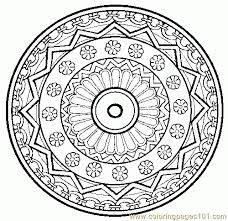 Small Picture Mandala Coloring Pages Printable Free Book Coloring Mandala