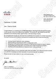 certification letter certificates and letters