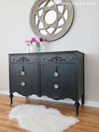 black painted furniture ideas. A Black Dresser With Glass Knobs, Painted Furniture, The Weathered Door Furniture Ideas