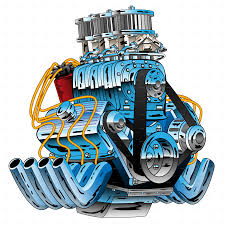 Race Car Engine Design Hot Rod Race Car Dragster Engine Cartoon Vector Race Car