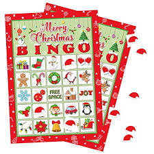 Bingo Lure Color Chart Moon Boat Christmas Bingo Game Xmas Holiday Winter Party Supplies Favors 32 Players