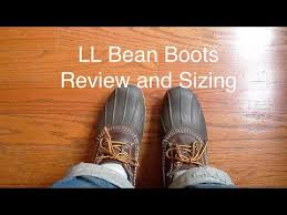 Ll Bean Size Chart Mens Ll Bean Bean Boots Review And Sizing Youtube