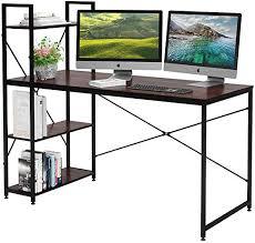 Bestier 55 Inch Computer Desk with Shelves, Modern <b>Writing Desk</b>