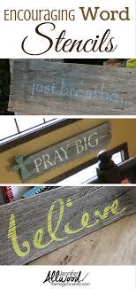 diy wall stencil words best wall stencil es on