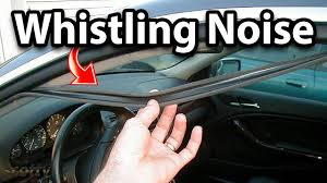how to fix whistling noise in your car door seal