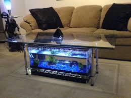 coffee table fish tank mid century modern round