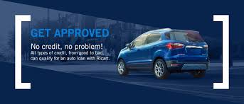 ricart get approved banner with a 2018 ford ecosport