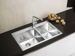 drop in kitchen sink. Double Bowl Stainless Steel Drop In Kitchen Sink With Modern Faucet