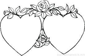 Printable Hearts Coloring Pages Coloring Pages Hearts And Flowers