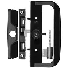 rolltrak black sliding patio door keyed lock set