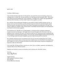Letter Of Recommendation Coworker Teacher Recommendation Letter Sample For Teacher Colleague
