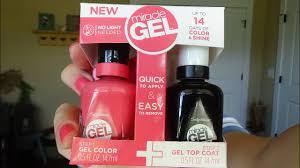 How To Use Sally Hansen No Light Gel Polish Review Sally Hansen New Miracle Gel No Light Needed Gel Polish