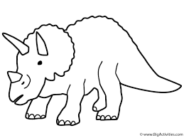 Small Picture Triceratops Coloring Page Dinosaurs