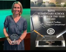 Congratulations to Mrs. Hillary Elliott,... - Rena Elementary School, Van  Buren, Arkansas | Facebook