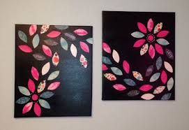diy canvas wall art try brown w pink turq gold or orange leaves on multiple canvas wall art diy with diy canvas wall art try brown w pink turq gold or orange leaves
