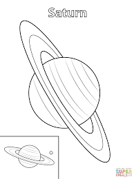 Small Picture Saturn Planet coloring page Free Printable Coloring Pages