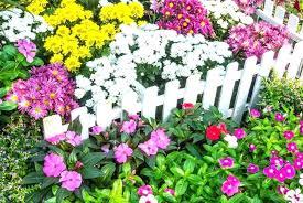 white garden border flower picket fence borders set of 4 white garden border