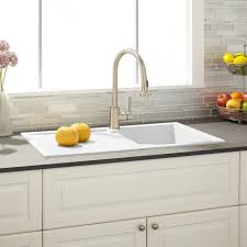 white kitchen sink with drainboard. 34\ White Kitchen Sink With Drainboard