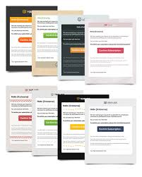 Shiny New Templates For Confirmation Emails Getresponse Blog
