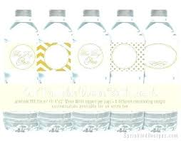 Water Bottles Templates Free Water Bottle Label Printable Templates Invitation