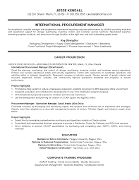 Cover Letter Purchase Manager Resume Samples Procurement Manager