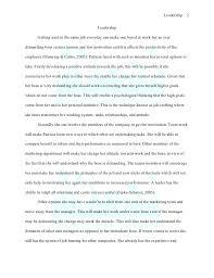 Sample Leadership Essay Under Fontanacountryinn Com