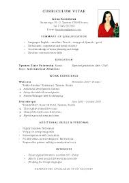 Simple Student Resume Format Samples Of Simple Resumes Hot Research ...