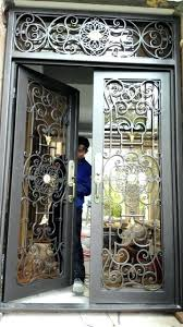 custom x iron doors front wrought glass entry stained door inserts