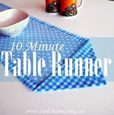 10 Minute Table Runner Pattern Gorgeous Ten Minute Table Runner Little House Living