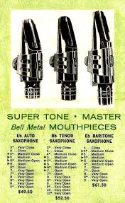 Otto Link Mouthpiece Chart Otto Link Mouthpieces Theo Wanne